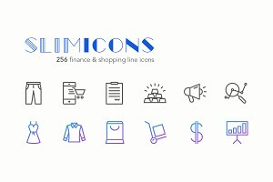 Finance & Shopping Icons - Slimicons