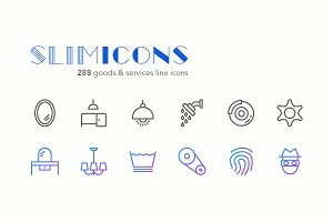 Goods & Services Icons - Slimicons