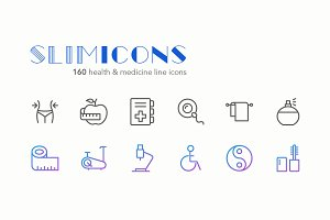 Health & Medicine Icons - Slimicons