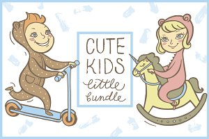4 Cute Kids Little Bundle