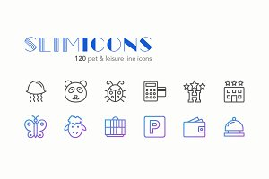 Pet & Leisure Line Icons - Slimicons