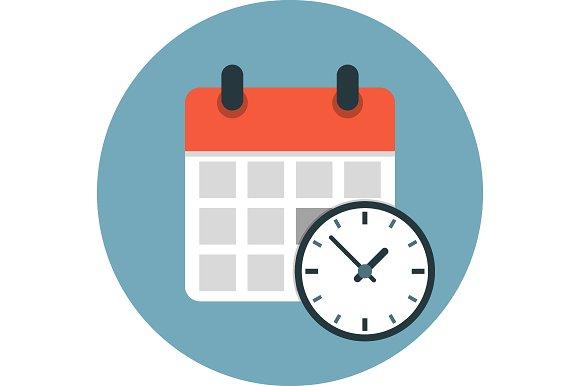 Calendar Flat Illustration : Calendar flat icon icons creative market