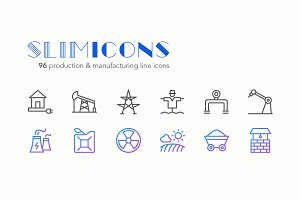 Production & Manufacturing Icons