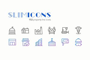 Property Line Icons - Slimicons