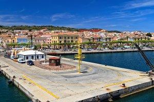 Sardinia - dock in Carloforte