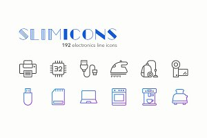 Electronics Line Icons - Slimicons