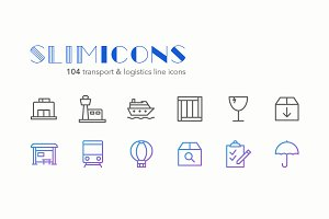 Transport & Logistics Line Icons