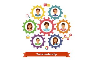 Teamwork and leadership concept