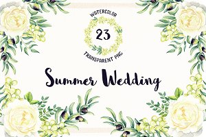 Watercolor Summer Wedding