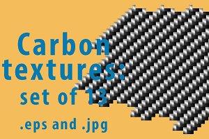 Set of gray carbon textutes