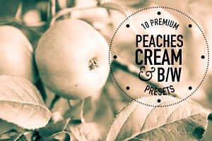 Peaches, Cream, BW Lightroom Presets