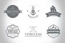 Hipster Logo/Badges Templates Vol.1