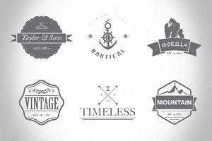 Hipster Logo/Badges Templates Vol.1
