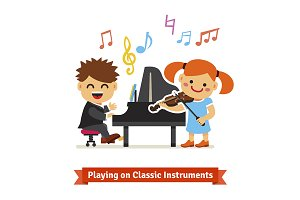 Kids playing classical music