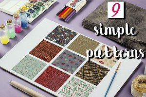 9 Simple patterns.
