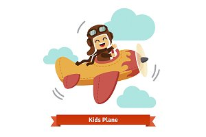 Kid flying plane like a real pilot