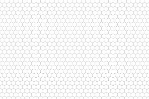 Gray hexagon grid on a4 sheet