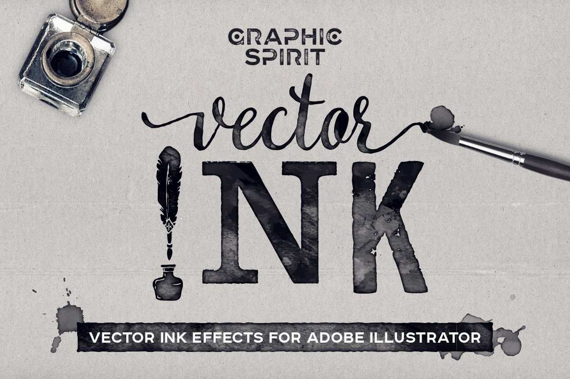 Vector Ink Effects For Ai Layer Styles Creative Market