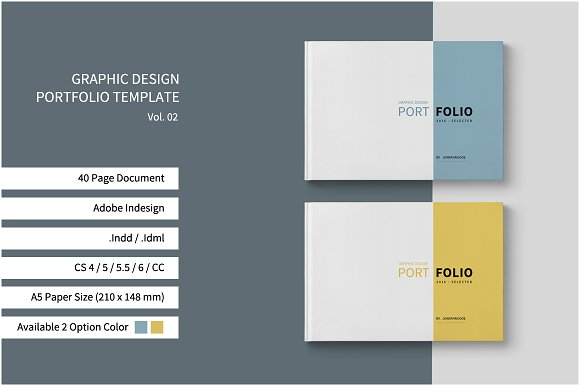 Graphic design portfolio template brochure templates on for Graphic design brochure templates