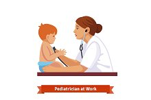 Woman doctor paediatrician