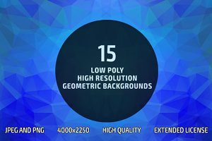 Low Poly Geometric Backgrounds (15)