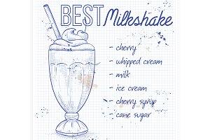Cherry milkshake