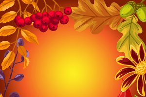 Backgrounds with autumn leaves.