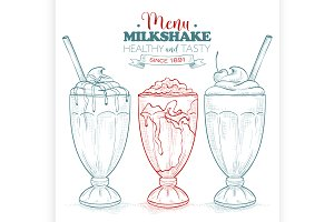 Scetch milkshake menu