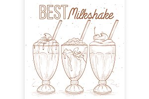Scetch set milkshakes