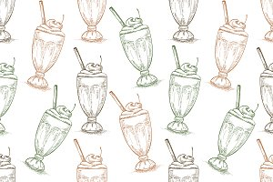 pattern cherry milkshake scetch