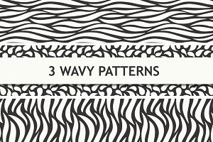 Wavy seamless patterns