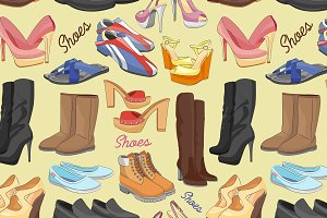 Shoes color pattern