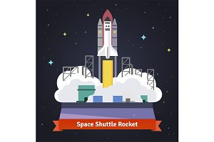 Space shuttle rocket launch