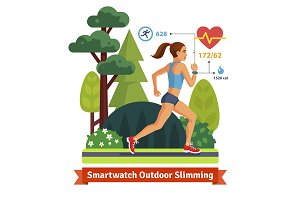 Slimming woman running