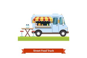 Opened street food truck