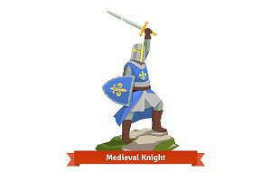 Heavy armoured medieval knight