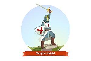 Knight Templar in armour