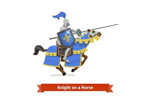 Medieval knigh on a horse