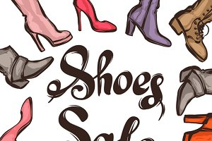 Background sale shoes.
