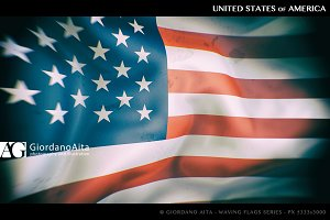 USA Flag waving