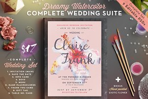 Dreamy Watercolor Wedding Suite IV