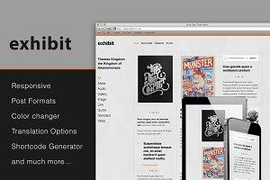 Exhibit - Blog, Portfolio WP Theme