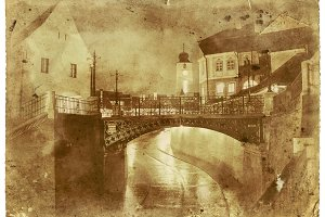 Medieval Bridge Vintage Photo