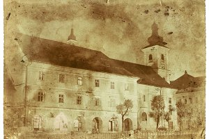 Medieval Church Vintage Photo