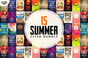 90%OFF 15 SUMMER BEACH Flyer Bundle