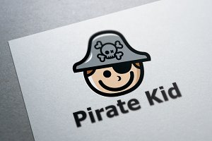 Pirate Kid Logo Template