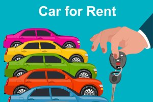 Car for rent concept