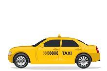 Taxi, car, vector illustration