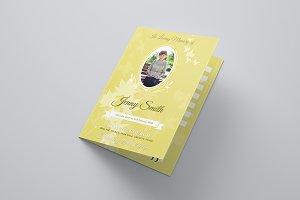 Blossom Funeral Program Brochure