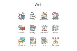 Web Outline Icons